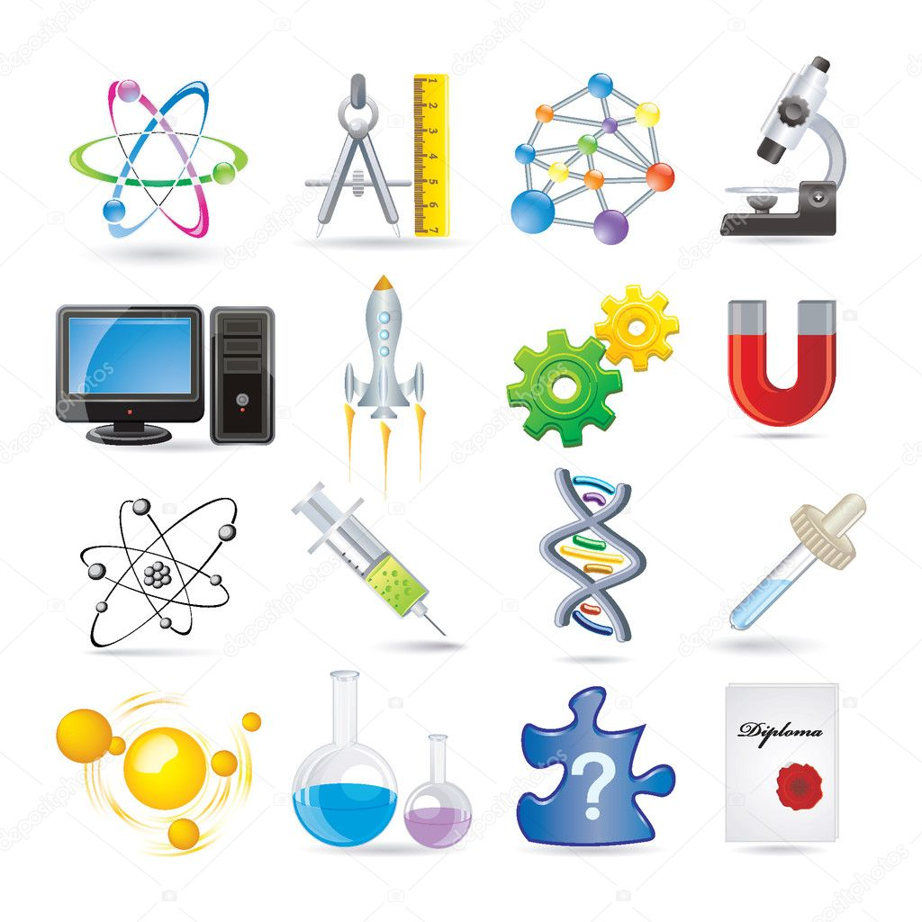 Science set of icons — Stock Vector #11416433
