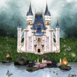 Enchanted castle - Stock Photo