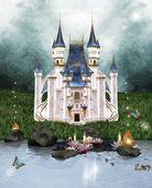 заколдованный замок — Стоковое фото