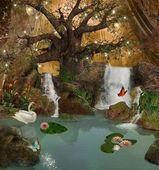 Enchanted lake — Stock Photo
