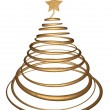 Gold christmas tree — Stock Photo #11825535