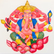 Foto de Stock  : Indior Hindu God Named TrimukhGanapati