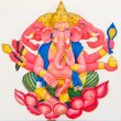 Stock Photo: Indior Hindu God Named TrimukhGanapati