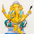 Stock Photo: Indior Hindu God Named TriaksarGanapati