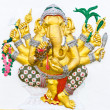 Stock Photo: Indior Hindu ganeshGod Named VighnGanapati
