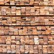 Stock Photo: Stack of wood logs