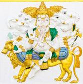 Indian or Hindu ganesha God Named Heramba Ganapati — Stock Photo