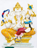 Indian or Hindu ganesha God Named Shakti Ganapati — Stock Photo