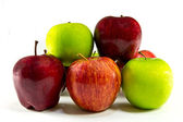 Difference kind apple isolated — Stock Photo