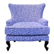 Blue sofa isolated — Foto Stock