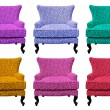 Multicolor set of sofa isolated — Stock Photo #11272217