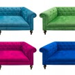 Multicolor set of sofa isolated — Stock Photo #11272341