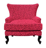 Red sofa isolated — Stock Photo