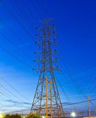 Electric high voltage post — 图库照片