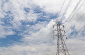 Electricity high voltage pylon — Foto Stock