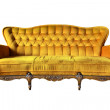 Vintage yellow luxury armchair isolated with clipping path — Stock Photo #11281934