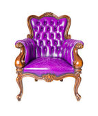 Luxury purple leather armchair — 图库照片