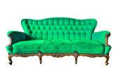 Fotel wzór zielony luksus na białym tle ze ścieżką przycinającą — Zdjęcie stockowe