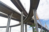 Bhumibol bridge in Samut Prakarn Bangkok, Thailand — Stock Photo