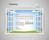 Website Page Design 2 — Stock Vector