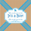 Invitation Its a Boy — Stockvectorbeeld