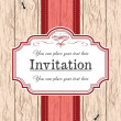 Invitation — Stock Vector