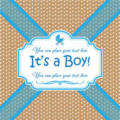Invitation Its a Boy — Vecteur