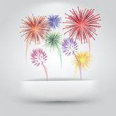Fireworks Paper Slit — Stock Vector