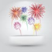 Los fuegos artificiales de papel raja — Vector de stock