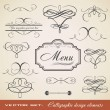 Calligraphic Element Set 3 - Stock Vector