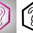 Royalty-Free Stock Photo: 3D-Icon Question, side-view.
