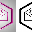 Stock Photo: 3D-Icon Incoming mail, front-view. With transparency mask.