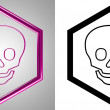 3D-Icon Scull, front-view. With transparency mask. — Stock Photo #12247747