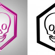 3D-Icon Scull, side-view. With transparency mask. — Stock Photo #12247753