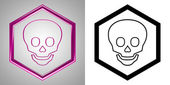 3D-Icon Scull, front-view. With transparency mask. — Stock Photo