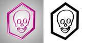 3D-Icon Scull, side-view. With transparency mask. — Stock Photo