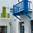 Blue small terrace in shopping area — Stock Photo