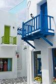 Blue small terrace in shopping area — Stock fotografie