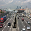 Moscow. Third Ring Road in Andreevsky Bridge. — Stock Photo
