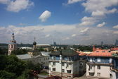 Moscow. Panorama of the city. The residential complex and monastery St. Andrew. — Stock Photo