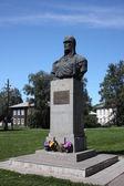 Russia, Yaroslavl region, Pereslavl. Monument Alexandr Nevsky. — Stock Photo