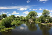 Russia, Yaroslavl region. River Trubezh in Pereslavl. — Stock Photo