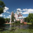 Stock Photo: Pereslavl. Forty Martyrs Church in the mouth of the river Trubezh.