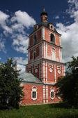Russia, Yaroslavl region, Pereslavl. Goritskii monastery. Church of the Epiphany with a bell tower. — Stock Photo