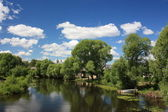 Russia, Yaroslavl region. River Trubezh in Pereslavl. — Stock Photo