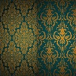 Set of seamless Damask wallpapers. — Stock Vector
