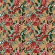 Vector retro floral seamless pattern — Stock Vector