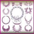 Royalty-Free Stock Vektorgrafik: Vector set of laurel wreaths.