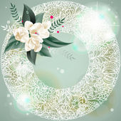 Abstract vector background with flowers — Stock Vector