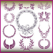 Vector set of laurel wreaths. — Stock Vector